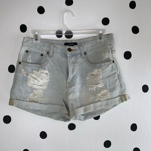 ☀️BOGO☀️EUC Forever 21 distressed button shorts 26